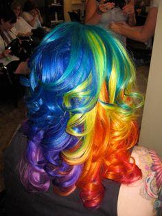 DIY Halloween Hair: DIY Halloween Hairstyles : rainbow-curls