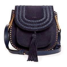 Chloe Small Suede Hudson - Navy (32 455 ZAR) ❤ liked on Polyvore featuring bags, handbags, shoulder bags, kirna zabete, spring bag edit, blue suede purse, chloe purses, blue shoulder bag, navy blue purse and suede shoulder bag
