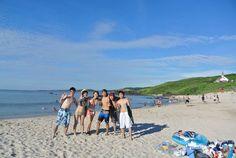 近くの人に撮ってもらった✨海での写真はこれやな!^_^