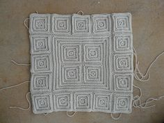 Textured crochet squares joined to create more texture, crochetbug, textured crochet blanket, textured crochet afghan