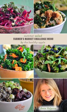 Summer Salad Farmer's Market Challenge Menu From The Healthy Apple