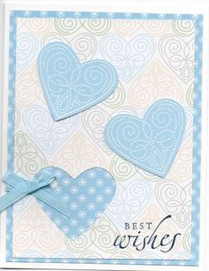 Polka Dot Punches delicate wedding/anniversary by mikate - Cards and Paper Crafts at Splitcoaststampers