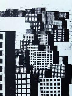 JAN BROKOW . Berlin . Holzschnitt, Darstellung 42 x 28 cm