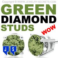Green Diamond Studs! WOW!