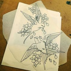 I've got these swallows available at the shop to be tattooed. Call Relentless…