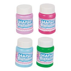 Amazon.com: Mini 1oz. Happy Birthday Bubbles 24/pack - Assorted Colors: Toys & Games