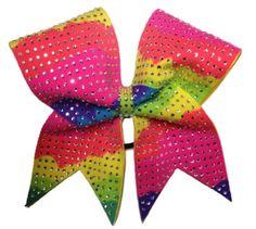 All Diamond Neon Cheer bow