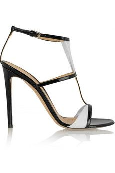 Gianvito Rossi Two-tone patent-leather sandals | THE OUTNET