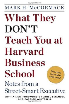 What They Don't Teach You at Harvard Business School: Notes from a Street-smart Executive  US $14.40 & FREE Shipping  #bigboxpower