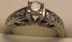 Diamond Engagement Ring by Vintagering on Etsy, $1550.00