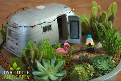 This is too cute - the blog has some good ideas for themed containers too, but no pic on that page to pin  ********************************************   LushLittleLandscapes - #fairy #garden #miniature hh
