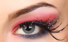 Flaunting pink eye look