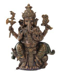 Look at this #zulilyfind! Bronzed Ganesha Figurine by Pacific Trading #zulilyfinds