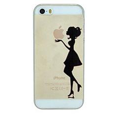 het meisje die de appel patroon pc harde transparante Cover ... – EUR € 2.99