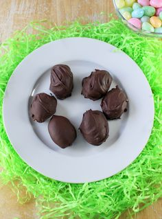 Old-fashioned Easter candy made with potatoes and dipped in chocolate