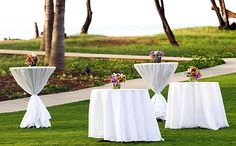 Cocktail Reception at Ocean Lawn Venue