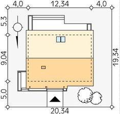DOM.PL™ - Projekt domu MT Jesion CE - DOM ST9-76 - gotowy koszt budowy Dom, Floor Plans, Floor Plan Drawing, House Floor Plans