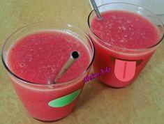 Soupe de pastèque, melon et poires