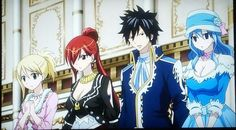 Fairy Tail Lucy, Erza, Gray, Juvia