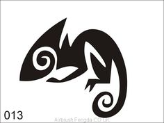 Airbrush tattoo stencil The Effective Pictures We Offer You About Tattoo Pattern flower A quality picture can tell you many things. You can find the most beautiful pictures that can be presented Tattoo Stencils, Stencil Art, Chameleon Tattoo, Logo Luxury, Airbrush Tattoo, Flora Und Fauna, Estilo Hippie, Stencil Patterns, Stencil Designs