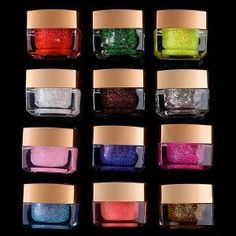 12 Color Glitter UV Builder Gel Nail Art Set