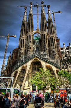 Sagrada Familia, Barcelona, Spain I was fortunate enough to see this in person. Stunning work.