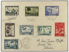 ESPAÑA. Ed.583/91. 1930. Serie completa (el sello nº 590 no existe en usado) con mat. especial PRO UNIÓN IBEROAMERICANA 12 OCT. 1930. Primer...