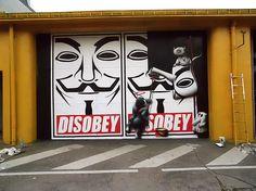 "Feat. Goin  Souterrain porte VI - expo collective ""Superhéros"" - déco du lieu  Maxéville (Nancy) Août / Octobre 2011   #cart1 - More #streetart at www.Streetart.nl"