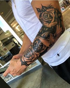 Flower Sleeve Tattoo - Best Half Sleeve Tattoos For Men: Cool Half Sleeve Tattoo. - Flower Sleeve Tattoo – Best Half Sleeve Tattoos For Men: Cool Half Sleeve Tattoo… – Flower Sl - Forarm Tattoos, Forearm Sleeve Tattoos, Best Sleeve Tattoos, Hand Tattoos, Sleeve Tattoo Men, Women Forearm Tattoo, Chicano Tattoos, Chest Tattoo, Half Sleeve Tattoos For Guys