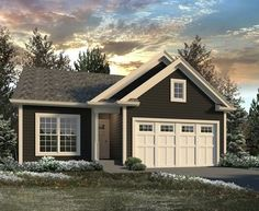 Vacation Cottage - 57310HA | 1st Floor Master Suite, CAD Available, Cottage, Narrow Lot, PDF, Split Bedrooms, Vacation | Architectural Designs