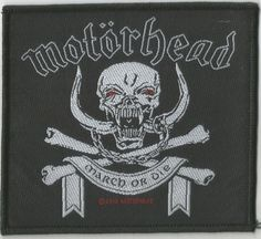 MOTÖRHEAD March Or Die Woven Patch Sew On Official Band Merch