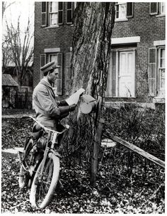 Letter Carrier Delivering Mail by Bicycle by Smithsonian Institution, via Flickr