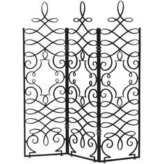 French 1940's Hand Forged Iron Screen by Gilbert Poillerat | From a unique collection of antique and modern screens at http://www.1stdibs.com/furniture/more-furniture-collectibles/screens/