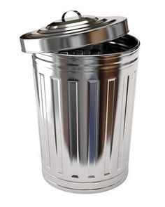paint galvanized trash cans