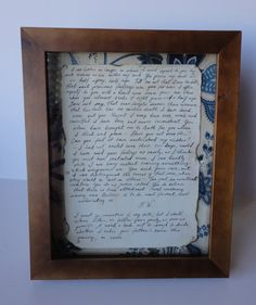 Captain Wentworth's Letter. OMG I want!