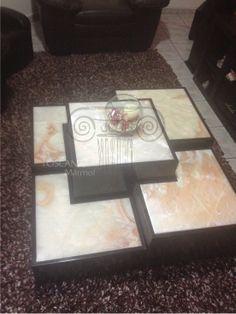 Mesas de centro de onix y marmol visto de la pagina de Toscana Marmol en su site www.toscana.com.mx
