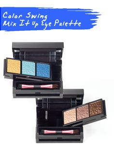 mark's eye shadows are in full swing with this Color Swing Mix It Up Eye Palette! 3 #bright shades on one said & 3 #neutral shades on the other! #2in1palette, available at www.youravon.com/jfreemyers