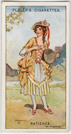 Cigarette cards of characters from Gilbert & Sullivan's Patience, ca. 1922-1939