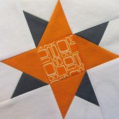42 Quilts: Modern Monday - Block 19, wonky improv star tutorial, http://www.42quilts.com/2012/01/modern-monday-block-19.html