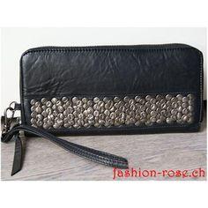 Sehr schöne Geldboerse in schwarz echt Leder Damengelbörse als Geschenk für die Frau Elegant, Bags, Fashion, Gifts For Women, Riveting, Handbags, Leather, Schmuck, Black