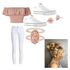 """""""Anyday"""" by mcphemad on Polyvore featuring Barbour, Miss Selfridge, Converse, 1928 and Kendra Scott"""