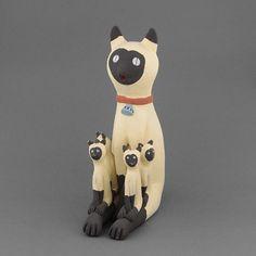 "Love this! Siamese Storyteller Cat by Chris Fragua (Jemez Pueblo ""Walatowa"")"
