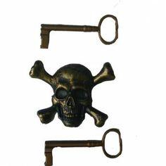 Sleutels met doodshoofd ( piraat )