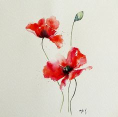 "Watercolor tattoo – ""mohnkomposition II"" watercolor Bestes Aquarell Tattoo – ""mohnkomposition II"" Aquarell This image has get. Watercolor Poppy Tattoo, Poppies Tattoo, Watercolor Poppies, Red Poppies, Watercolor Print, Watercolour Painting, Red Poppy Tattoo, Poppies Painting, Art Floral"