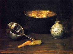 Still Life with Pepper and Carrot - William Merritt Chase, 1900