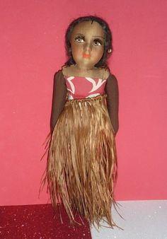 "1940's - Dorothy Lamour - Hawaiian Cloth Doll -12"" Tall from DOLL-LIGHTED TO MEET YOU1 found @ Doll Shops United http://www.dollshopsunited.com/stores/dolllighted/items/1277336/1940s-Dorothy-Lamour-Hawaiian-Cloth-Doll-12-Tall #dollshopsunited"
