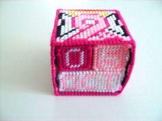 Breast Cancer Block Calendar  Plastic Canvas  by ShanaysCreation