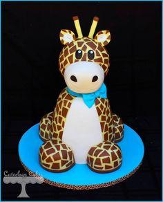 New baby shower cake giraffe galleries Ideas Beautiful Cakes, Amazing Cakes, Giraffe Cakes, Giraffe Baby, Giraffe Birthday, Giraffe Decor, Safari Cakes, 4th Birthday, Birthday Cakes