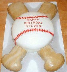 Baseball Cake for Andrew Baseball Birthday Cakes, Birthday Fun, Birthday Parties, 31st Birthday, Birthday Ideas, Fun Cupcakes, Cupcake Cakes, Cakes For Boys, Boy Cakes