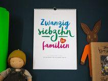 Wandkalender für Familien  Familienkalender 2017